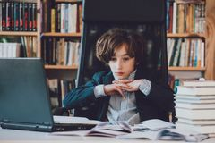 Young businessman at work in the office royalty free stock photo