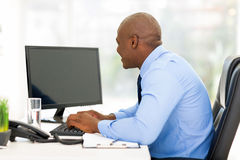Young businessman working Stock Photography