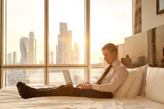 Young businessman working at home Stock Photo