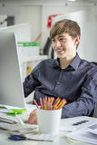 Young businessman working Royalty Free Stock Photos