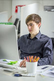 Young businessman working Royalty Free Stock Images