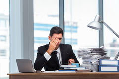 The young businessman working in the office Stock Images