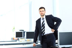 Young businessman working in office Royalty Free Stock Photo