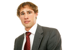 Young Businessman - Worried Stock Photo