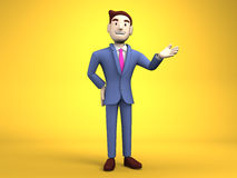 Young Businessman On Yellow Background Royalty Free Stock Photography