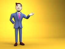 Young Businessman On Yellow Text Space Royalty Free Stock Photo