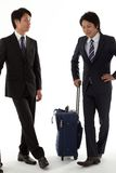 Young businessmen on a business trip Stock Photography