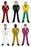 Young businessmen collection stock illustration