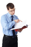 Young businessmen with documents Stock Images