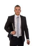 Young businessmen with documents Stock Photography
