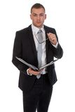 Young businessmen with documents Royalty Free Stock Photos