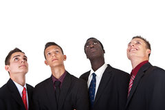 Young businessmen isolated over white Royalty Free Stock Images
