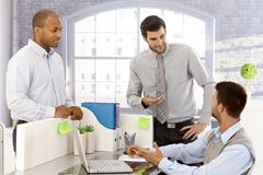 Young businessmen working together royalty free stock images