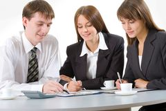 Young businesspeople Stock Photo