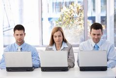 Young businesspeople busy by working Royalty Free Stock Photography