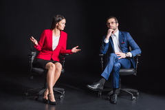 Young businesspeople chatting Royalty Free Stock Photos