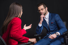 Young businesspeople chatting Royalty Free Stock Image