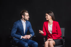 Young businesspeople chatting Stock Image