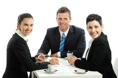 Businesspeople having coffee break Royalty Free Stock Photography