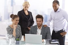 Young businesspeople at a meeting Royalty Free Stock Photo