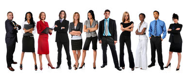 Young Businesspeople Standing Stock Photos