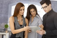 Young businesspeople working together Royalty Free Stock Images