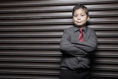 Young businessperson on an abstract background Royalty Free Stock Images