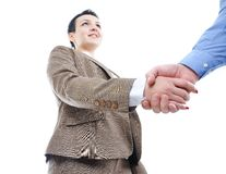 Young businessperson shaking hand Royalty Free Stock Photography