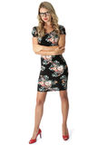 Young Businesss Woman Short Mini Dress Royalty Free Stock Image