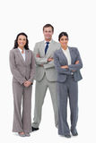 Young businessteam with arms folded Royalty Free Stock Photography
