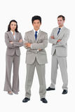 Young businessteam with folded arms Stock Images