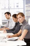 Young businessteam having a meeting in office Stock Photography