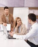 Young businessteam having training Stock Image