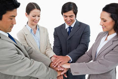 Young businessteam motivating each other Royalty Free Stock Photo