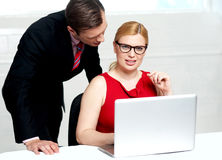 Young businessteam working in office Royalty Free Stock Photos
