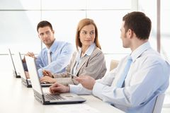 Young businessteam working together in office Stock Photography