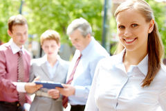 Young businesswoman Royalty Free Stock Photos