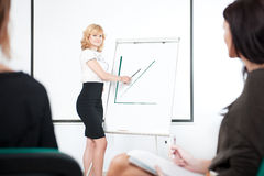 Young businesswoman. Doing a presentation for her team Stock Photography