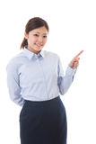 Young businesswoman. To recommend it to Royalty Free Stock Photography