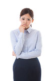 Young businesswoman. The young businesswoman who is troubled Stock Photo