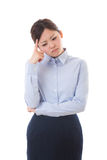 Young businesswoman. The young businesswoman who is troubled Stock Image