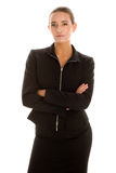 Young businesswoman. On white background Stock Images