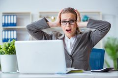 The young businesswoman accountant working in the office Royalty Free Stock Photos