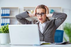 The young businesswoman accountant working in the office Stock Images