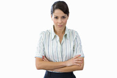 Young businesswoman, arms crossed, portrait , cut out Stock Image