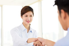 Young businesswoman arriving for job interview. Young business women arriving for job interview stock images