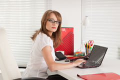 Free Young Businesswoman At The Office. Stock Image - 20003571