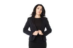 Young businesswoman. Young beautiful businesswoman isolated on white background Royalty Free Stock Photo