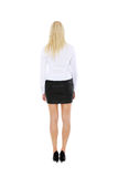Young businesswoman from behind Royalty Free Stock Photo