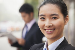 Young Businesswoman in Beijing, China, close-up portrait Royalty Free Stock Image